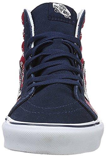 Vans UA Sk8-Hi Reissue, Chaussures en Forme de Bottines Mixte Adulte - Rouge - Rouge/Noir, 39 EU