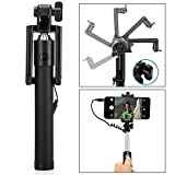 #1: Selfie Stick, Sumaclife Aux Selfie Stick Wired Foldable Mini Monopod with Rubber grip for Android Smartphones and iPhones (Multi-colour)