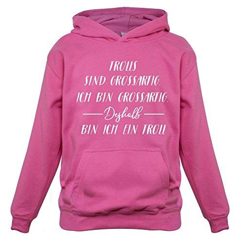 Ich Bin Grossartig - Trolls - Kinder Hoodie/Kapuzenpullover - Rosa - XL (9-11 Jahre)