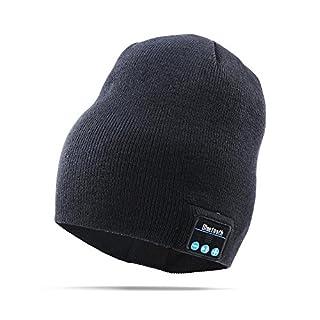 AIKER Bluetooth Hat Stricken Hat mit Eingebaut Wireless Speaker Fit zum Outdoor Sports Skifahren Running Skating