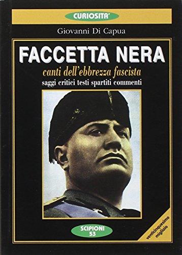 Pdf Faccetta Nera Canti Dell Ebbrezza Fascista Saggi Critici Testi Spartiti Commenti Epub Darrinomar