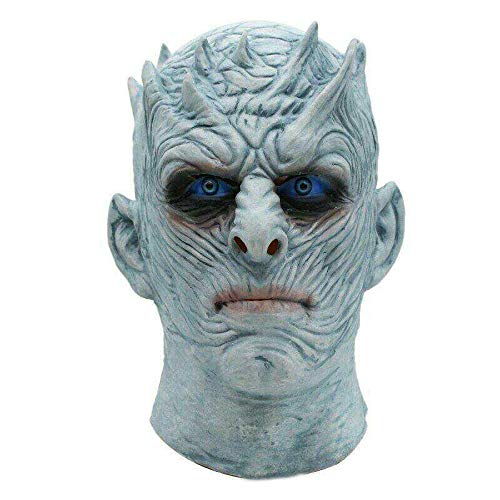 Ice Der King Kostüm - WULIHONG-MaskeMovie Game Thrones Nacht König Maske Halloween Realistische Scary Cosplay Kostüm Latex Party Maske Erwachsene Zombie Requisiten