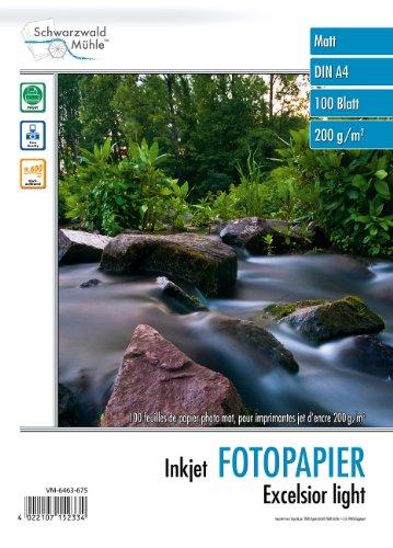 Schwarzwald Mühle Inkjet Fotopapier: 100 Bl. Fotopapier