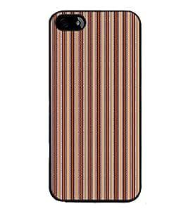 Fuson Designer Back Case Cover for Apple iPhone 4S (lines square box art artistic)