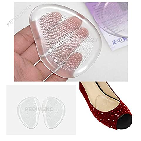 2x PEDIMEND BALL OF FOOT CUSHIONS / Metatarsal Pad Relief - Self-Adhesive - Foot Pads Gel Shoe Soft Insoles - Prevent Slipping / Injury - Shock Absorber Pads - For Cuticle / Corns / Callus / Metatarsal Pads for Foot - Orthotic Pads - Prevent Foot Burning