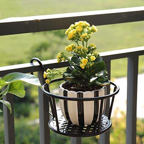 Fleur Pot Support Fleur Stand Fer Clôture De Parapets Suspendus Pot De Fleurs Balustrade Suspendus Plante Verte Windowsill Bonsaï