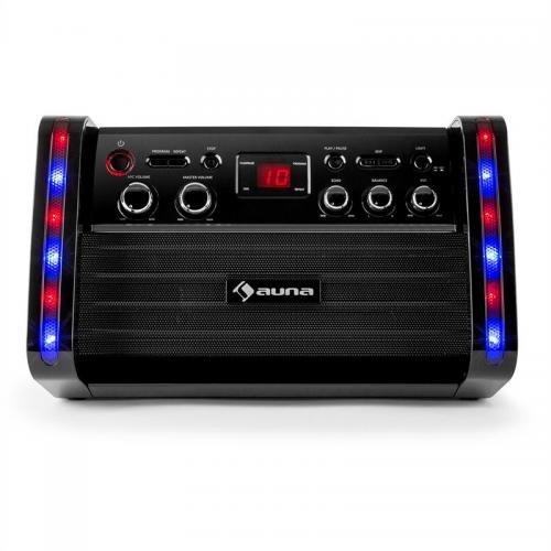 Auna Disco Fever equipo karaoke portátil micrófono