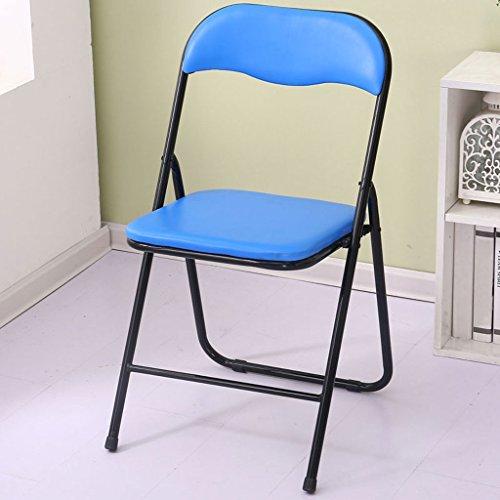 ⅤOne FMC Computer Klappstuhl Rücksitz Hocker Stühle Bürostuhl Haushalt Einfache Mahjong Stühle Esszimmerstuhl Erwachsene Tragbaren Stuhl (Farbe : 1)