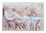 XIANRENGE Reine Handgemalte Ölgemälde Blumen Nackte Frau Abstrakte Menschlichen Körper Kunst Bild Wohnzimmer Wohnkultur 50×80Cm