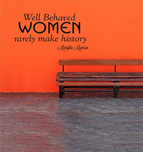 Decalcomania di Marylin Monroe Decalcomania da muro Le donne ben educate raramente fanno la storia