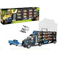 Mymiyou Giant Transport Truck Toy Dinosaur and Wild Life Animal Safari Carrier Car