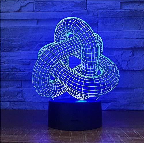 Kreativer Halloween - Dekorationen Baum 3D - LED - Lampe USB - Nachtlicht Mit 7 Farben - Änderungs - 3D - Illusion Tischlampe Für Kinder Geschenk (Für Halloween Baum-dekorationen)