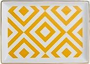 Porland Morocco Kahvaltı Tabağı Desen4 Sarı 18x13cm, Porselen