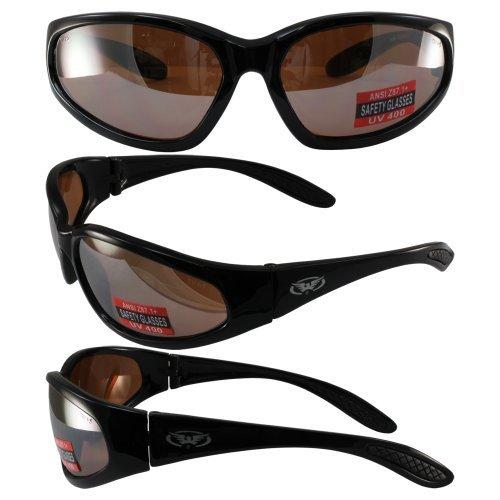 Global Vision Hercules Safety Sunglasses Black Frame Driving Mirror Lenses ANSI Z87.1+ by Global Vision Eyewear