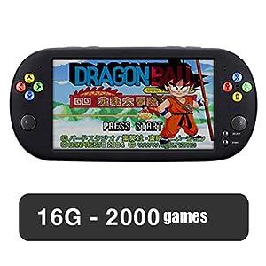LSXX 7-Zoll-Handheld-Konsole Arcade-Spielmaschine PSP FC GBA Spielkonsole Built-in 5000 Spielen,16gb