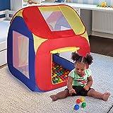 Infantastic Kinderspielzelt (85 x 85 x 100 cm) | Kinderzelt mit Bällebad 200 Stück | Pop Up Spielhaus