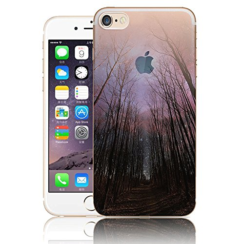 iPhone 7 TPU Silicone Coque,iPhone 8 Souple Case Cover Housse,Vandot Paysage Creative Painting Peinture Housse de téléphone pour iPhone 7 / iPhone 8 4.7 Pouces Silicone modèle Cas pour iPhone 7 TPU Do ABC-9