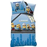 Familando Wende Bettwäsche Set Minion, 135x200cm + 80x80cm, Linon, Minions at Work