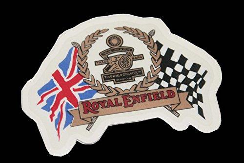 ber, Firmenlogo mit Kanone, Union-Jack-Flagge + karierte Flagge, Britisch, England, 1 Paar ()