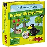 HABA-4655-Meine-ersten-Spiele-Erster-Obstgarten Haba 4655 – Meine ersten Spiele Erster Obstgarten, unterhaltsames Brettspiel rund um Farben und Formen ab 2 Jahren, Holzspielzeug und Lernspiel, der Spieleklassiker für kleine Kinder -