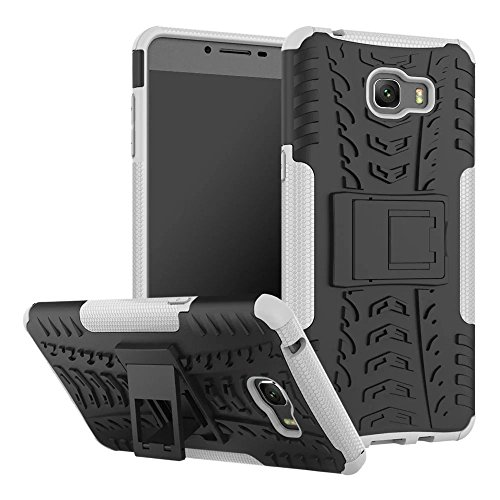 YHUISEN Galaxy C9 Pro Case, Hyun Pattern Dual Layer Hybrid Armor Kickstand 2 In 1 Shockproof Case Cover für Samsung Galaxy C9 Pro ( Color : Green ) White