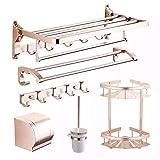 Handtuchhalter Badetuch Rack Aluminium und Bäder, Racks Badewanne Aufhänger Kit und Two-Tone Optional, EIN