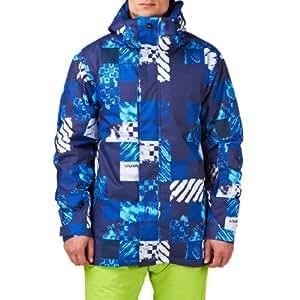 Quiksilver Men's Mission 10 k Aop Men's Snow Jacket Blue blue - blue Size:XL