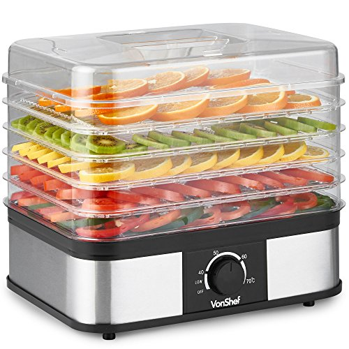 VonShef 5 Tier Food Dehydrator -...