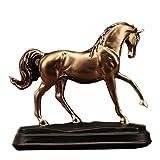 Healifty Vintage Cheval Résine Figurine Vintage Modèle Collectionner Figurine Sculpture Modèle Décor pour Table Bureau Jardin