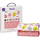 Snuz Crib Fitted Sheets - Little Tweets Bird Print (Fits SnuzPod and Chicco Next2Me)
