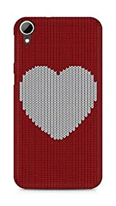 Amez designer printed 3d premium high quality back case cover for HTC Desire 828 (Wool heart Pattern)