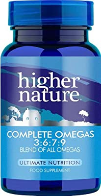 Higher Nature Essential 3:6:7:9 Omegas Pack of 30 from Higher Nature