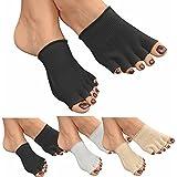 GreatIdeas Paire de chaussettes à 5 doigts enduites d'un gel Favorise la cicatrisation et évite d'avoir les pieds secs