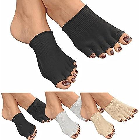 GreatIdeas & # 0153; Gel aperta cinque dita Calzini–Cuscino piedi–evitare Idratante Pelle Secca–Cura del Piede (Bunion Bandage)
