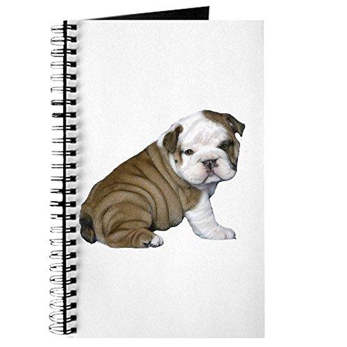 CafePress–Englisch Bulldog puppy1–Spiralbindung Journal Notizbuch, persönliches Tagebuch, liniert