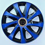 Centurion Radzierblende Drift EXTRA blau/schwarz 15 Zoll 4er Set