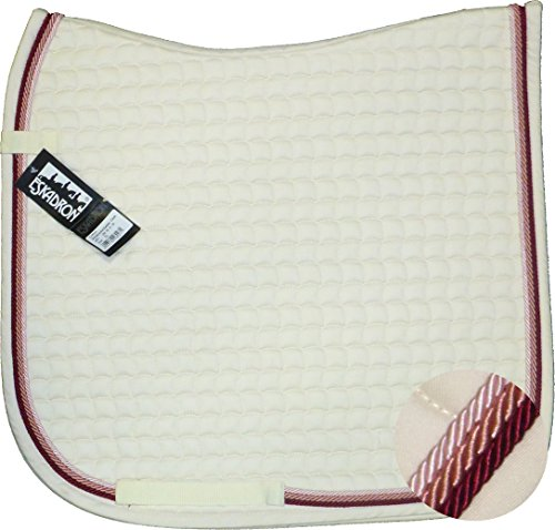 ESKADRON Cotton Schabracke weiß, 3fach Kordel silber,lavender,rose, Form:Vielseitigkeit