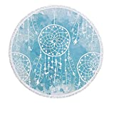 ETH Tovagliolo Da Spiaggia Rotondo Copripiumino Da Sogno, Telo Da Tappezzante Hippie 3D Tovaglia Da Meditazione Stuoia Da Picnic Yoga Telo Da Bagno In Microfibra Scialle Roundie Protezione Solare 2 Cl