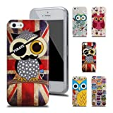 Ganvol iPhone SE Custodia, iPhone 5 5S Cover, Gufo TPU Silicone Morbido Cover Protettiva Caso (5#)