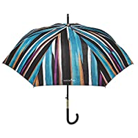 Classic Woman Umbrella Maison Perletti - Automatic Opening - High Quality - Golden Details and Rhinestone on The Handle