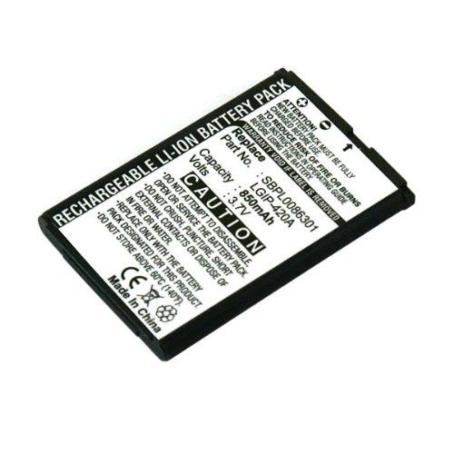 Akku, Ersatzakku mit 850mAh !!! für LG AX275 / AX380 / UX380 / U370 / U370 Disney mit Hohe Kapazität und ohne Memory-Effekt Li-Ion PDA-Punkt