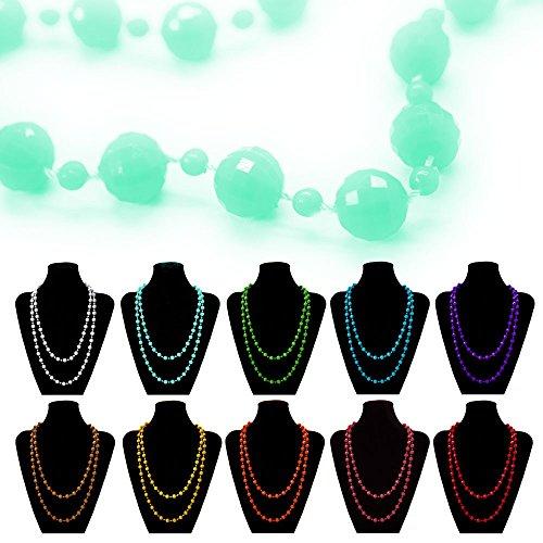 1 chaîne de collier de perle bien-être de différentes couleurs menthe fraîche orange de corail jaune rouge corail