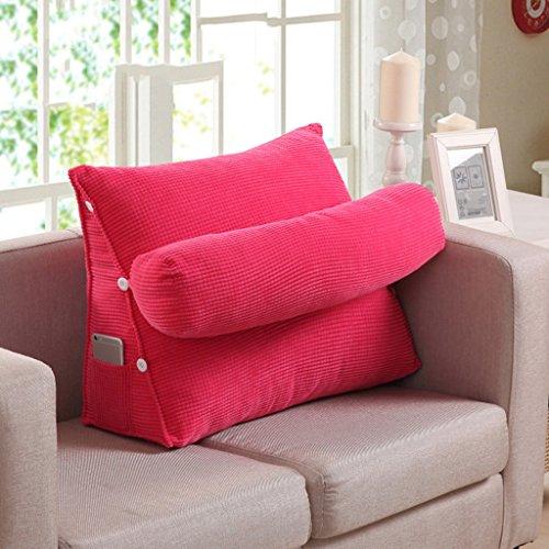 MMM- Réglable Triangulaire Chevet Coussin Bureau Taille Dossier Pad Lit Cou Garde Garde Canapé Oreiller ( Couleur : Rose rouge , taille : 45 )