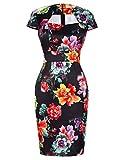 60s Style Frauen Retro Kleid für Homecoing Tee Party Größe S CL7597-14