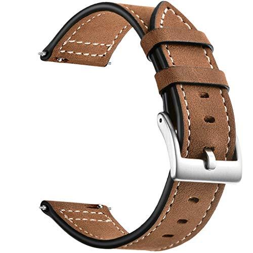 Webla-Armbanduhr Leder mit Schnalle D 'Silber Edelstahl Armbanduhr Schnellverschluss Uhr 220Mm lang für Uhr Samsung Galaxy Watch Active 20Mm - Lagerung Silber-münze