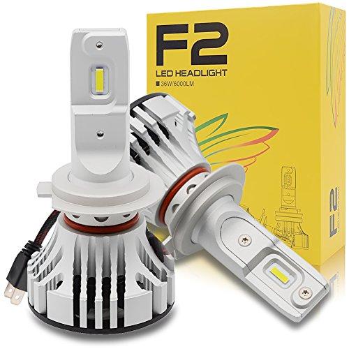 H7 LED Auto Scheinwerfer Lampen Kit - Safego 36W 6000lm Auto LED-Licht Umbausatz 12V Ersetzen Sie für Autohalogen-Lichter oder HID-Birnen F2-YD-H7 Strobe-kit Ersatz-birne