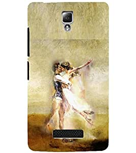 PrintDhaba LOVE COUPLE D-6633 Back Case Cover for LENOVO A2010 (Multi-Coloured)