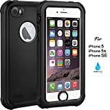 iPhone 5 5S SE Case - IP68 Waterproof Case by ASAKUKI, Full Body Case with Screen Protector Shockproof Scratchproof Dustproof iPhone 5 5S SE Case