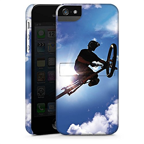 Apple iPhone X Silikon Hülle Case Schutzhülle Mountainbike Fahrrad Sport Premium Case StandUp