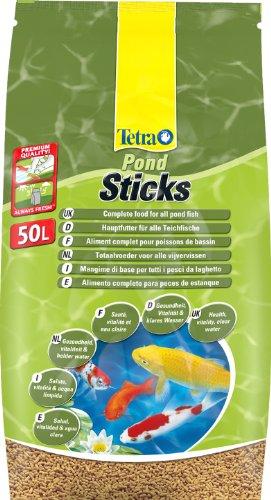 Tetra Pond Sticks (Hauptfutter für alle Gartenteichfische in Form von schwimmfähigen Sticks), 50 Liter Eimer